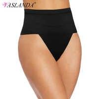VASLANDA Women Thong Tummy Shapers Shaping Panty Seamless Underwear Waist Cincher Trainer Girdle Faja Shapewear G-string Briefs