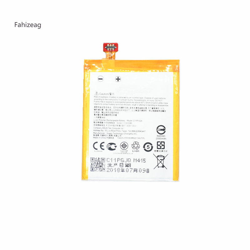 Fahizeag 2050mAh C11P1324 Replacement Phone Battery For <font><b>ASUS</b></font> <font><b>Zenfone</b></font> <font><b>5</b></font> T00F T00J <font><b>A501CG</b></font> <font><b>A500CG</b></font> A501 A500G Z5 A500 A500KL mobile image