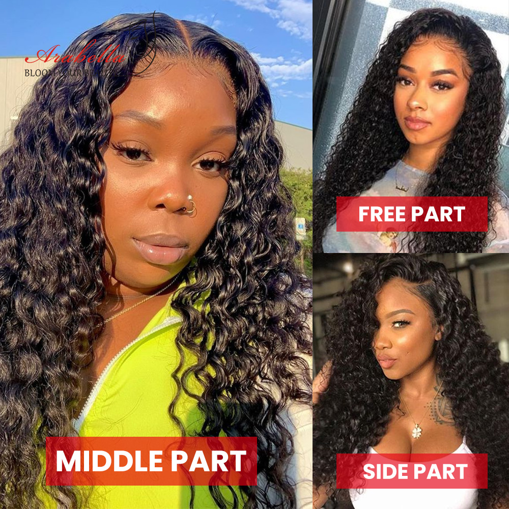 13x4 Lace Frontal Wig  Deep Wave Lace Wig With Baby Hair Pre Plucked Arabella  Lace Front  Wigs  4