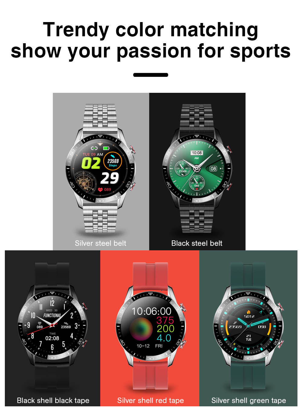 Hbbd9d46de5d048db8d5b813756b33903J TK2-8 Smart Watch For Men Bluetooth Call IP68 Waterproof Blood Pressure Heart Rate Monitor New SmartWatch Sports Fitness Tracker