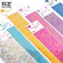 Colorido série de lantejoulas fita decorativa laser adesivos scrapbooking diário coreano papelaria álbum borboleta carta arco adesivo