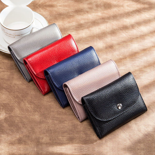 Genuine Leather Simple Wallet  5
