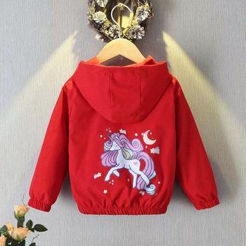 Unicorn Jacket for Girls Red Beauty 1