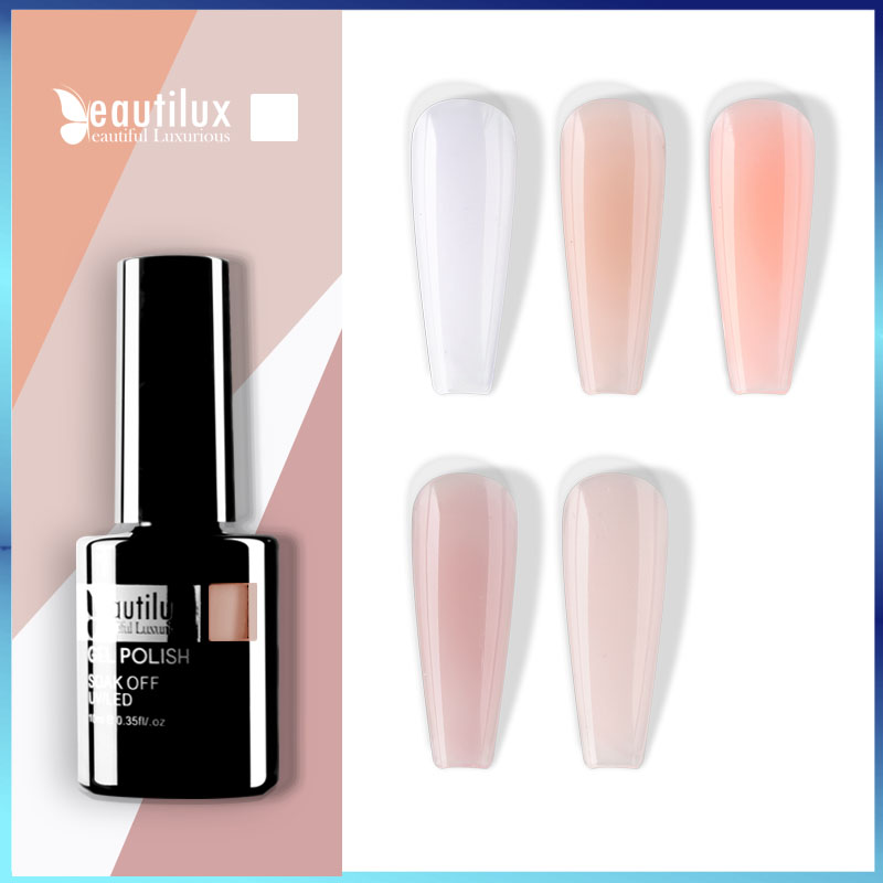 Beautilux 1 шт. резиновая основа Камуфляжный французский маникюрный гель для ногтей лак розовый молочно-белый базовый слой УФ-гель Дизайн ногтей...