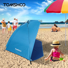 TOMSHOO 2 Persons Outdoor Beach Tent Shelter Sports Camping Tent UV Protecting Summer Tent for Fishing Picnic Beach Park
