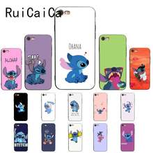 RuiCaiCa Cute Ohana Stitch funny cute Customer High Phone Case For iPhone 8 7 6 6S Plus X XS MAX 5 5S SE XR 11 11pro 11promax(China)
