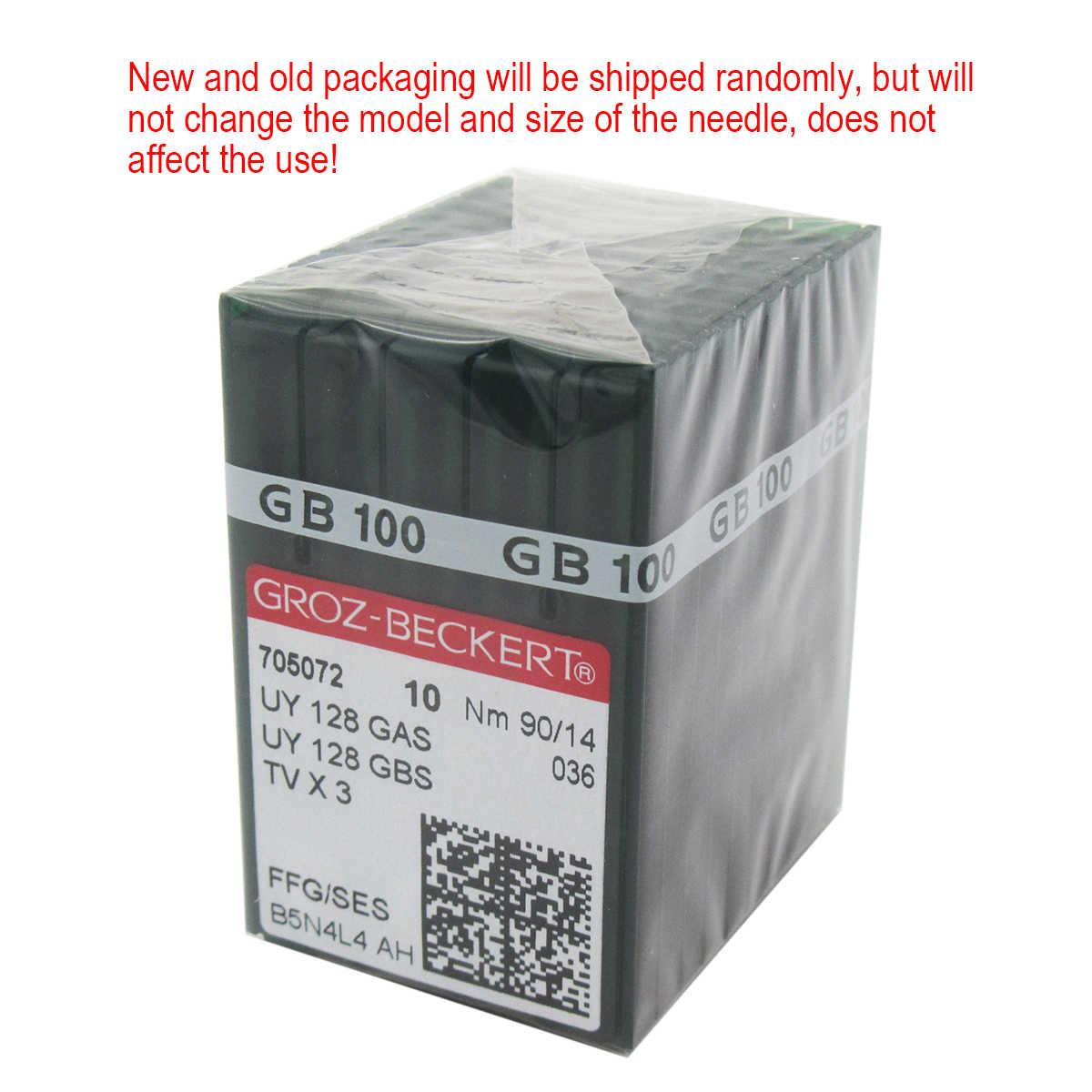 Tv X 3 tamaño 80//12 Groz-Beckert Industrial Coverstitch Agujas de máquina UY128 gas