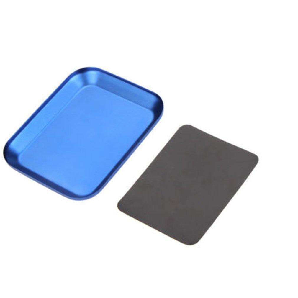 Magnetic Pad Useful Aluminum Screw Tray For Drone Model RC Model Phone Car Repair Tools