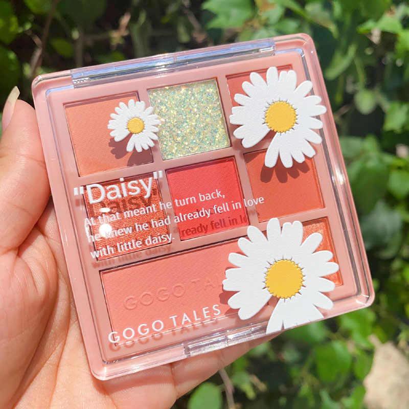 Gogotalesアイシャドウパレット 8 色甘いピンク紫色の桃オレンジマットリッターアイシャドーパレットアイシャガールメイク化粧品