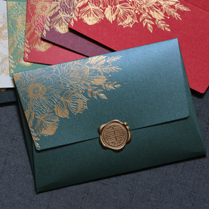 Image 3 - 40pcs/lot New High Grade Pearl Paper Envelopes 125mmX175mm European Bronzing Pattern Envelope Bag