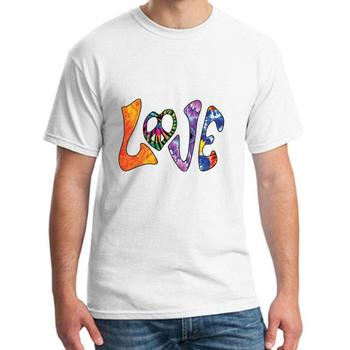 Fashion hippie love tee t shirts men big size s~5xL formal outfit