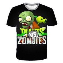 Boys T-Shirt Zombies Plants-Vs Short-Sleeve Anime Cartoon O-Neck Game-Pattern 3D Wars