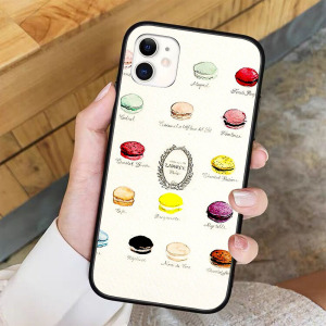 Laduree Macarons Flavor Menu Phone Case For iPhone 11 Pro X XR XS Max 6 7 8 plus Samsung S8 S9 S10 S20 A10 A50
