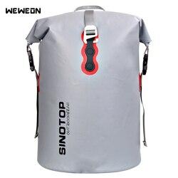 40л наружная водонепроницаемая сумка для каякинга Сухой Рюкзак рафтинг дрейфующий Большой Водонепроницаемый сухой мешок для хранения Съем...