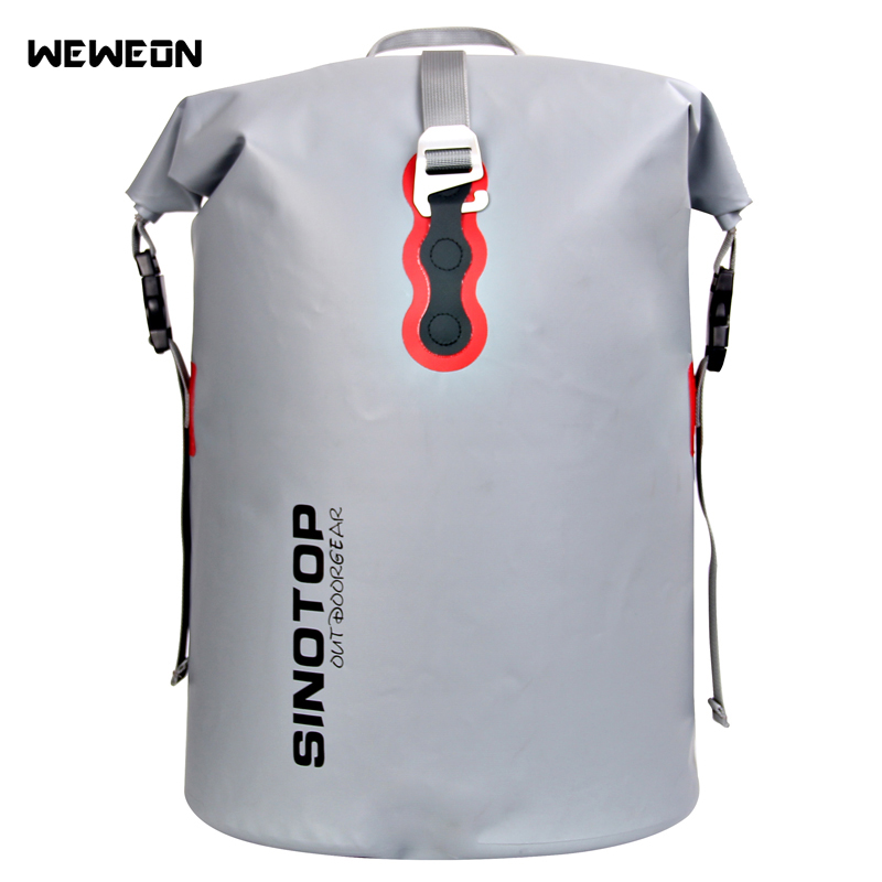 40L Outdoor Waterproof Kayaking Bag Dry Backpack Rafting Drifting Large Waterproof Dry Storage Handbag Detachable Shoulder Strap