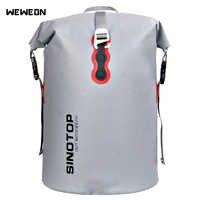 40L Outdoor Waterproof Kayaking Bag Dry Backpack Rafting Drifting Large Waterproof Dry Storage Handbag Detachable Shoulder Strap