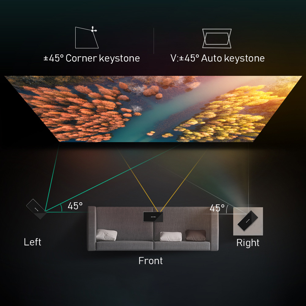 Byintek P10 smart android wifi mini pico projetor de bolso portátil beamer led dlp laser móvel 1080p para smartphone 4k 3d cinema-5