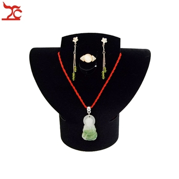 цена на Fashion Jewelry Necklace Collar Ring Earring Choker Jewelry Display Rack Foldable Velvet Neck Bust  Stand Holder