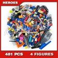 481 шт. супер героев-истребителей Milano vs Abilisk космический корабль миссии Монстр 10748 модель строительные блоки игрушка совместим с кирпичами