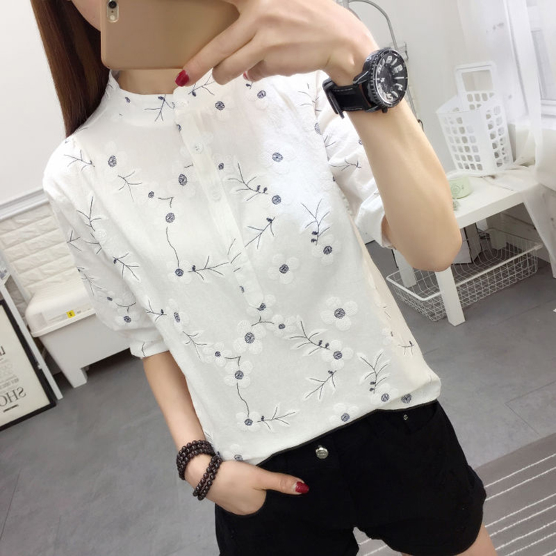 Embroidery Women Spring Summer Style Cotton and Li
