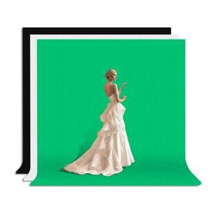 Image 5 - ZUOCHEN 사진 스튜디오 배경 크로마 키 블랙 화이트 그린 스크린 배경 스탠드 키트 2M 스튜디오 배경 지원 키트