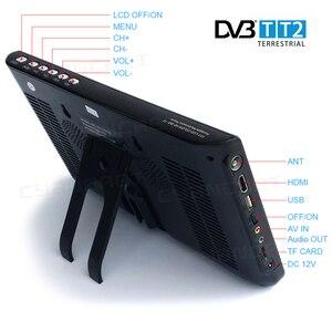 Image 2 - נייד טלוויזיה DVB T2 tdt 9 אינץ טלוויזיה דיגיטלי ואנלוגי מיני קטן רכב טלוויזיה NS 1001D עבור צג תמיכת HDMI PVR h.265 AC3