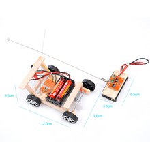 DIY Physical Science Experiments Toy Set Wireless Remote Control Racing Model Kit Wood Kids Assembled Car Educational Toy