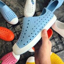 Новинка года; детская обувь из прозрачного пластика; обувь из Крока; Scarpe; детские ботинки для сада; пляжные сабо из ПВХ