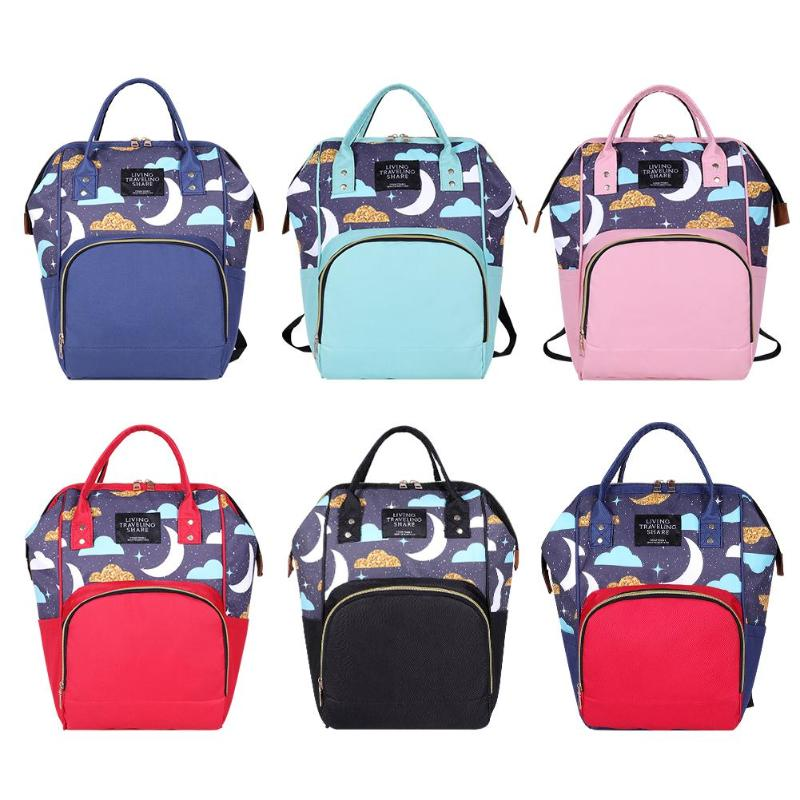 Mummy Backpacks Print Oxford Bags Women Large Capacity Satchel Rucksack