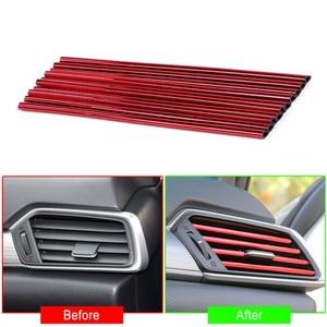 Universal 10Pcs Air Outlet Decoration Strip Interior Trim Car Decoration Car accessories Car Interior Accessories Car Style