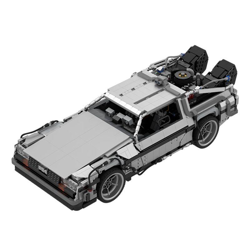Время путешествия Назад в будущее 1985 машина времени высокотехнологичные гонки строительные блоки спортивный автомобиль Модель Кирпичи де...
