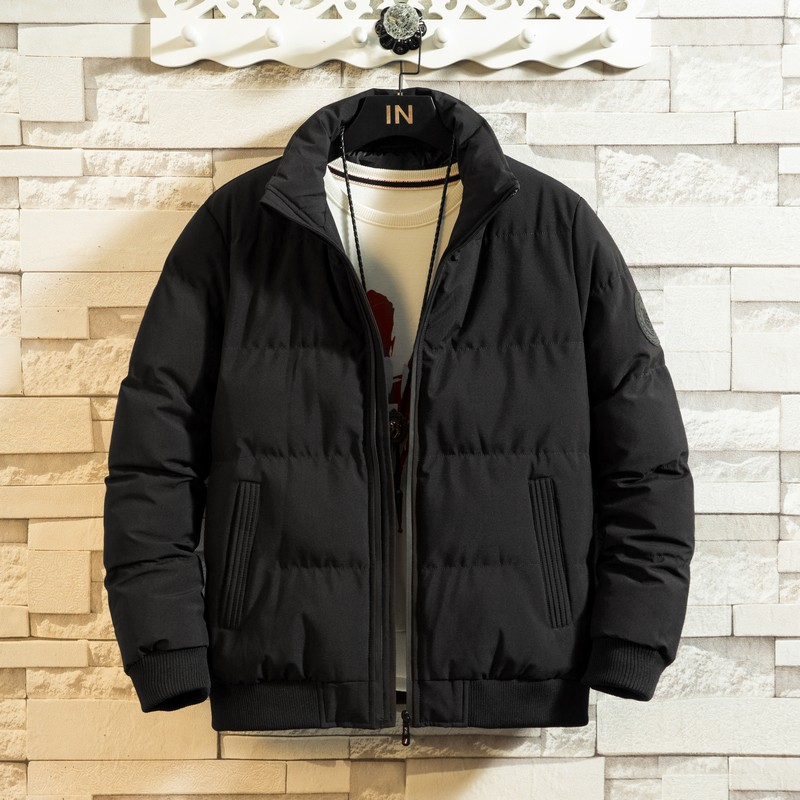 New 2019 Winter Mens Cotton Down Jackets Overcoats Casual Classic Bomber Coats For Male Plus Oversize Size M-5XL 6XL 7XL 8XL