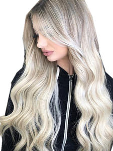 Human-Hair-Extensions Ash-Blonde Forever-Hair Natural European Skin-Weft-Remy 20--Tape