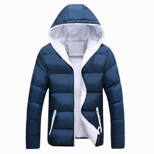 Mens New Parkas Autumn and Winter Thickened Cotton Clothes Couples Wear Coats Hooded Down Suit