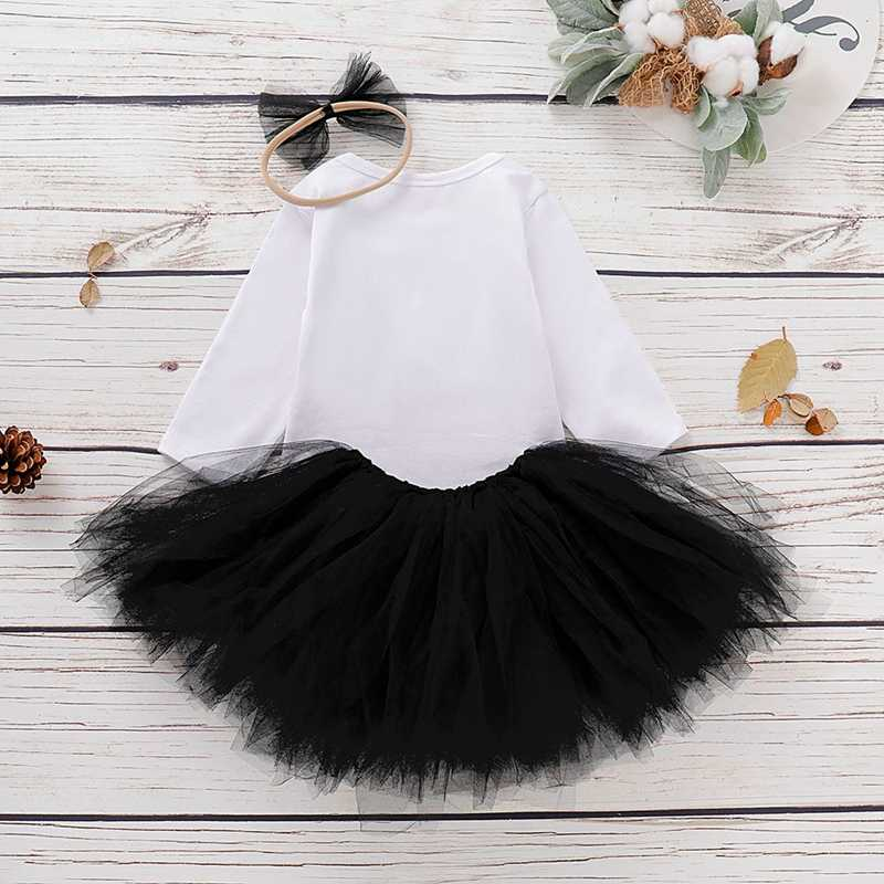 Детские комбинезоны на Хэллоуин с буквенным принтом, комбинезон с длинными рукавами, боди, юбка-пачка, комплект одежды 2019 года, новый дизайн для малышей 0-18 месяцев