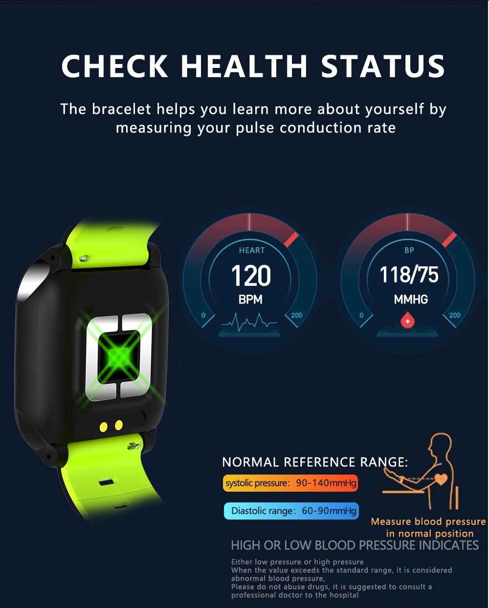 ECG Bracelet Smart Watch Sleep Monitoring