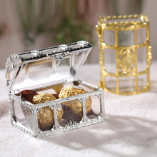 Hollow Treasure Chest Gift Box Christmas Wedding Festive Candy Box Plastic Jewelry Small Object Storage Box Boîte de bonbons(China)