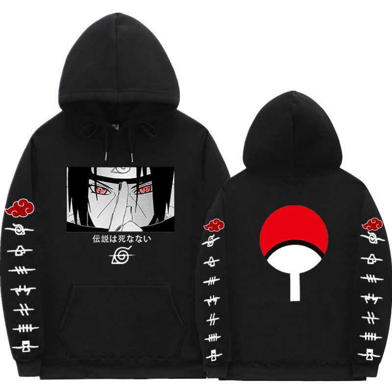 Naruto Hoodies Anime Streetwear çift kış ceket moda gevşek Uchiha Itachi Hoodie kazak Unisex Hoodie erkek kadın|Kapşonlu ve Kapşonsuz Svetşörtler|   -