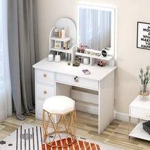 80cm simples armário de armazenamento cômoda penteadeira web celebridade luz espelho nordic quarto penteadeira economia simples