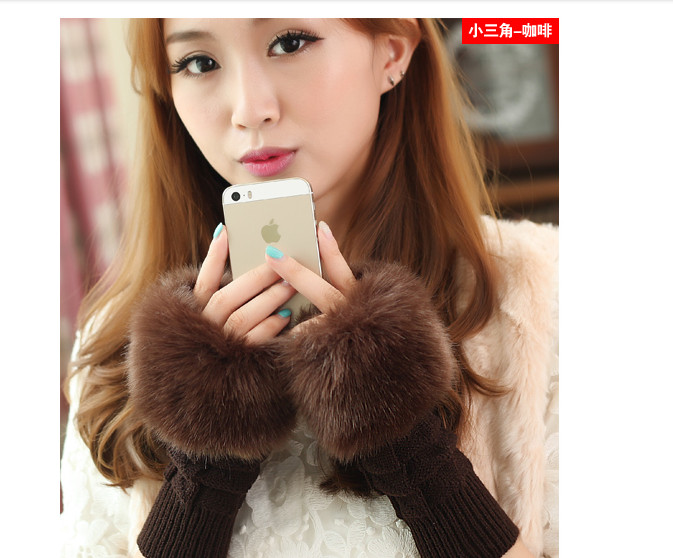 HOT RECOMMEND Indoor  Keep Warm Arm Autumn Winter Girl  Gloves Ms Lovely  Fingerless Arm Warmers  Wool Half Gloves