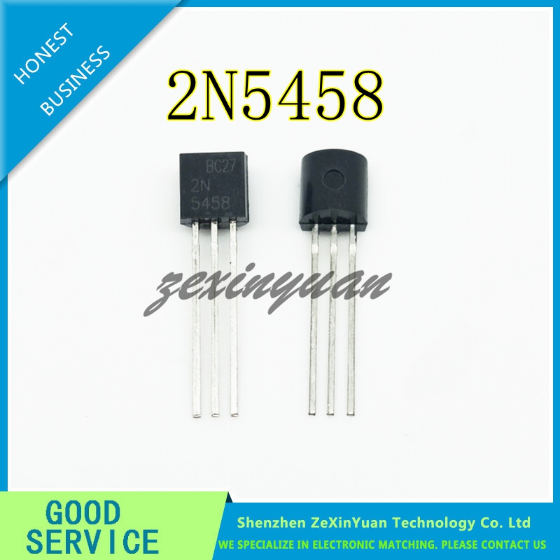 50PCS/LOT 2N5458 IC JFET N-CH SS GP 25V TO92 5458 N5458 TO-92-3 New Original
