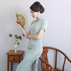 Image 2 - 2020 Vestido De Debutante โรงงานโดยตรงขายใหม่ Retro ตัดมือปักผ้าไหม Cheongsam ขายส่งทุกวันที่ดีขึ้น