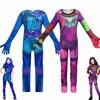 Модный карнавальный костюм потомки 3 Evie, для детей, девочек, униформа mal, карнавальный костюм на Хэллоуин, костюм для детей, комбинезоны