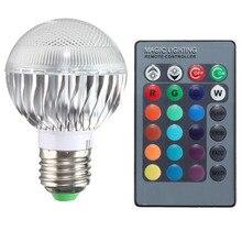 цена на New 3W RGB LED Bulb E27 85-265V RGB Lampada LED Light 220V 120V Led Spotlight Lamparas LED Lamp Spot Luz For Home Lighting