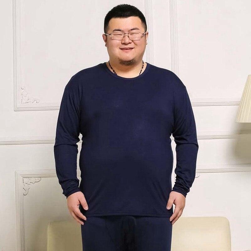 plus size men thick fleece tshirt winter warm Thermal Leggings oversize Bottoms cotton suit Tops and pants 7XL 8XL 9XL underwear