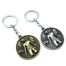 New Creative game surrounding key chain PUBG character nameplate pendant key chain ring car bag key ring pendant creative pubg key chainring pan metal key chain car pendant game key ring surrounding men s and women s small gifts