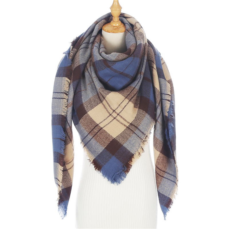 Luxury Brand Soild Cashmere Women Scarf Winter Shawls And Wraps Bandana Pashmina