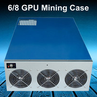 6/8 GPU Graphics Card Mining Server Case Frame 6 Fan Position Miner Mining Server Rack Case Frame Rig For Coin BTC Ethereum
