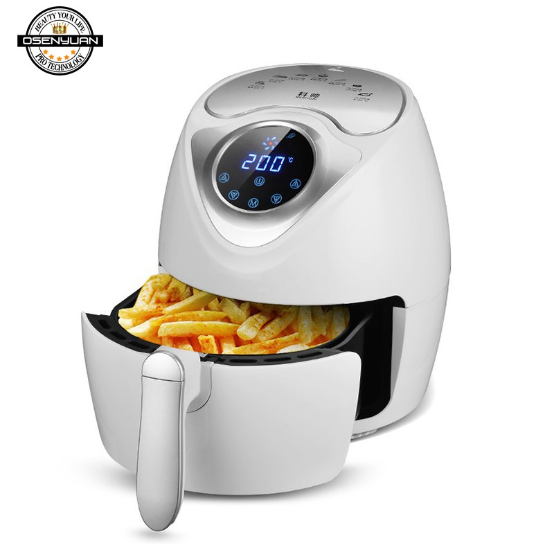 Electric Deep Fryer Air Fryer Digital LED Touch Screen Timer Temperature Control Power Air Fryer Eletric 3 5L 2 6L double pan in Multicookers from Home Appliances