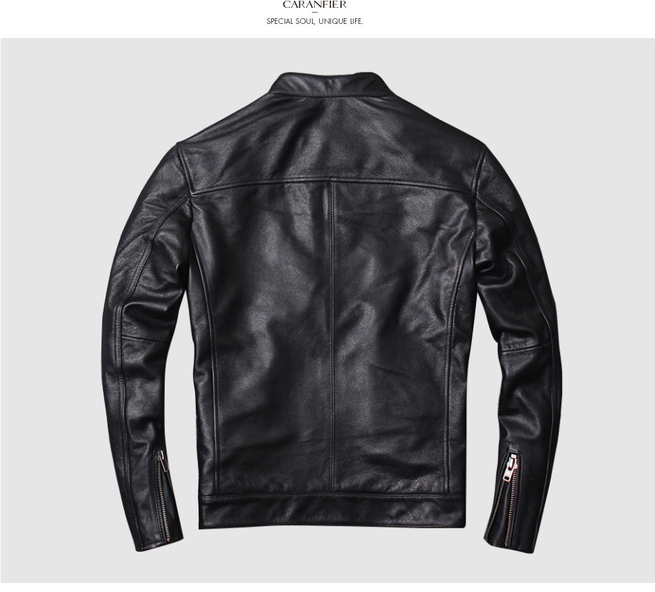 Hbbdde206e022420a8439e4967aed8f65i CARANFIER DHL Free Shipping Mens 100% Cowhide Genuine Leather Jacket High quality old retro motorcycle leather jacket 3XL